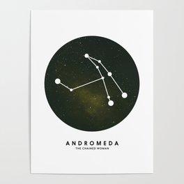 Andromeda - Star Constellation Poster