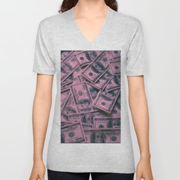 All About The Money Unisex V-Neck