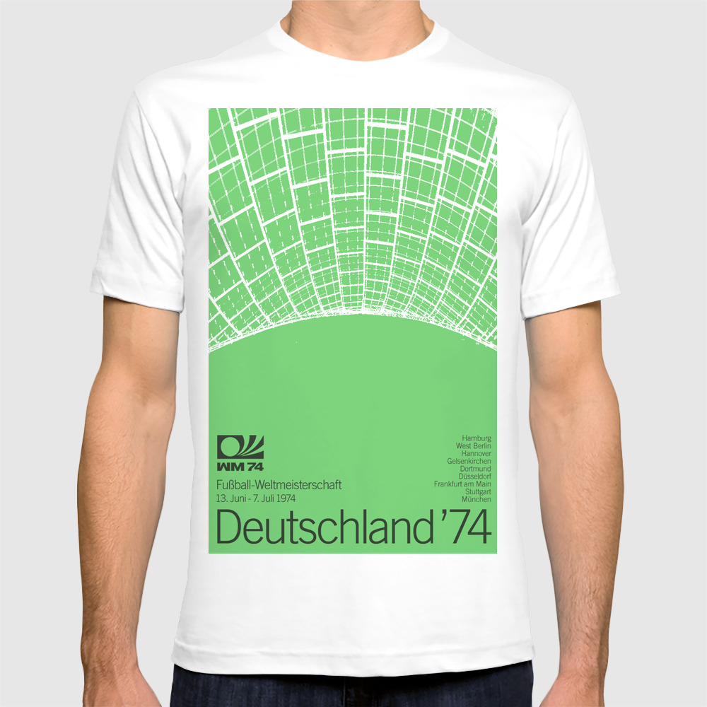 World Cup: West Germany 1974 T-shirt by Jamescampbelltaylor TSR2103602
