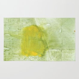 Green abstract aquarelle painting Rug