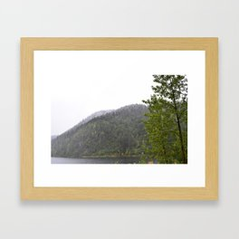 Season's First Snow Framed Art Print