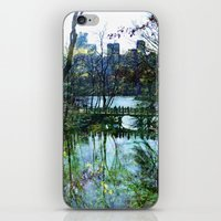 central park iPhone & iPod Skins featuring Central Park  by aLovelyNotion