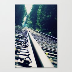 Abandoned LIRR Line at Forest Park in NYC, New York City Canvas Print