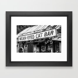 The Mean-Eyed Cat Framed Art Print