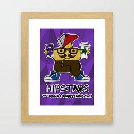 hip STAR Framed Art Print