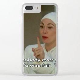 Tina Clear iPhone Case