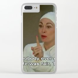 Tina Clear iPhone Case