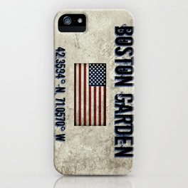 Remembering the Old Boston Garden iPhone Case