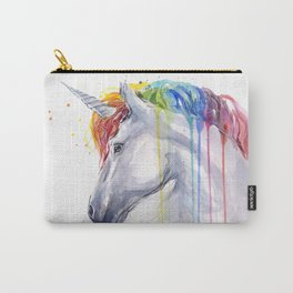 Rainbow Unicorn Watercolor Animal Magical Whimsical Animals Carry-All Pouch