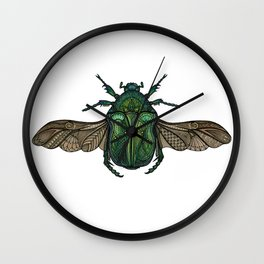 Egyptian Scarab Wall Clock
