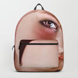 Pink Doll Face Backpack
