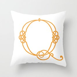 Celtic Knot Initial Q Throw Pillow
