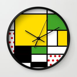Mondrian – Bycicle Wall Clock
