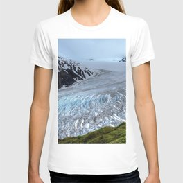 Glacier mountains ice snow Alaska USA Harding Icefield Kenai Fjords National Park United States T-shirt