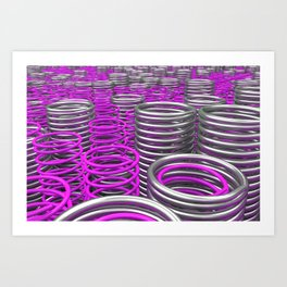 Plastic and metal springs and coils Art Print