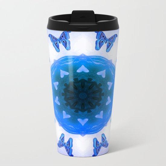 All things with wings (blue) Metal Travel Mug