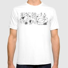 Doobles MEDIUM White Mens Fitted Tee