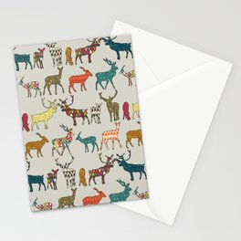 patterned deer stone Stationery Cards