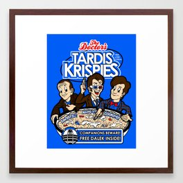 Tardis Krispies Framed Art Print