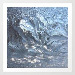 Ice I, Ice Light Wind Abstract Photography Art Print