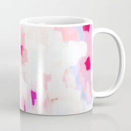 Netta - abstract painting pink pastel bright happy modern home office dorm college decor Coffee Mug
