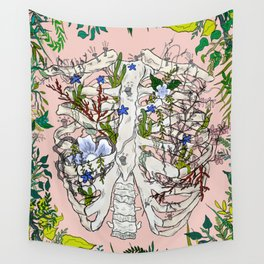 Moon Flower Wall Tapestry