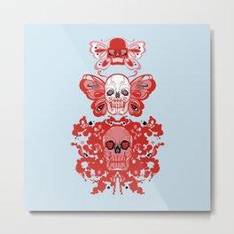 Triple threat skulls Metal Print