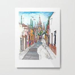 San Miguel Allende Street 1 Metal Print