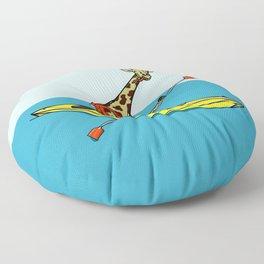 Giraffe Sea Kayaking Floor Pillow