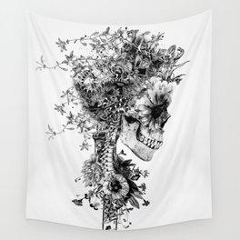 Skull BW Wall Tapestry