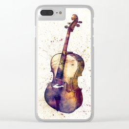 Cello Abstract Watercolor Clear iPhone Case