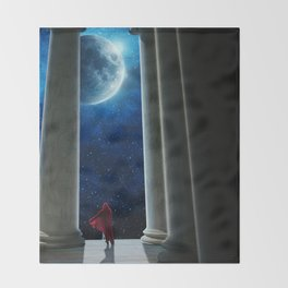 Moon Temple Throw Blanket