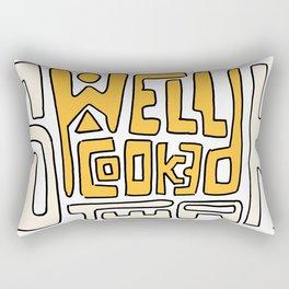 Well Cooked Steak Rectangular Pillow