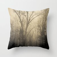 inner demons Throw Pillows featuring Inner Demons by Olivia Joy St.Claire - Modern Nature / T