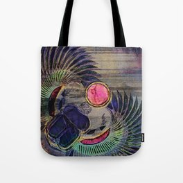 Egyptian Scarab Beetle Abstract on canvas Tote Bag