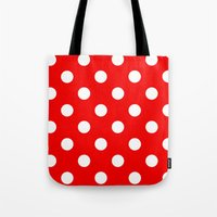 polka dots Tote Bags featuring Polka dots  by MIKITCHU