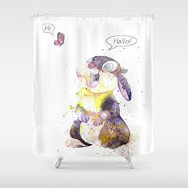 Hi - Hallo Shower Curtain