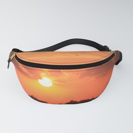 Blazing Kansas Sky Sunset Fanny Pack