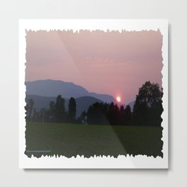 Vermont Sunset over Mad Rive Gle Vermont Metal Print
