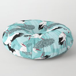 Storks Floor Pillow