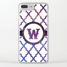Galaxy Monogram: Letter W Clear iPhone Case