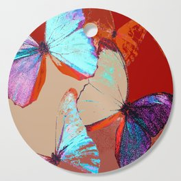 Butterflies in different colors Cutting Board