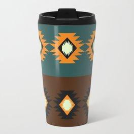 Stripes with native shapes Travel Mug
