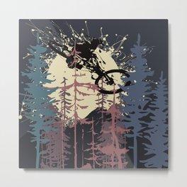 MTB Woods Metal Print