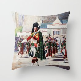 Edinburgh Vintage Travel Poster Throw Pillow