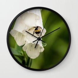 Bumblebee in the campanula Wall Clock