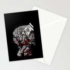 Zombie Rush (Gray Tone Version) Stationery Cards