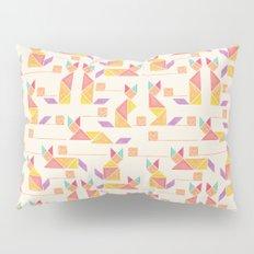 Tangram Cats Pillow Sham