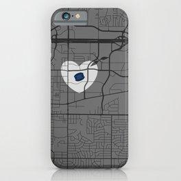 AT&T Stadium Map iPhone Case