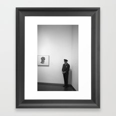 The Museum Guard Framed Art Print